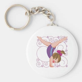 Gymnastics Gift Basic Round Button Keychain