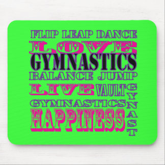 Gymnastics Gifts for Gymnasts Mouse Pad