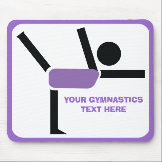 Gymnastics gifts, gymnastics performer custom mouse pad
