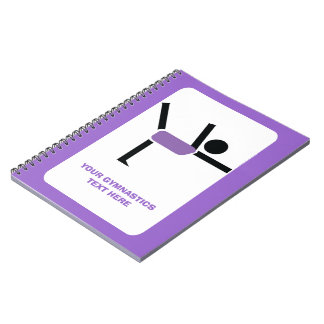 Gymnastics gifts, gymnastics performer custom notebook