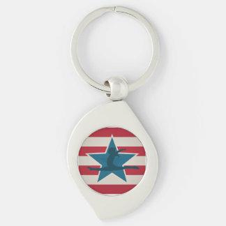 Gymnastics Gifts USA themed Key Chain