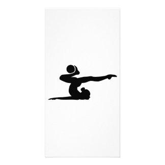 Gymnastics girl ball card
