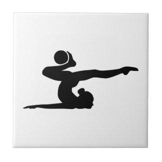 Gymnastics girl ball ceramic tile