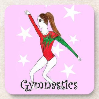Gymnastics girl beverage coaster