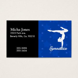 Gymnastics Girl Blue Stars Business Card