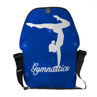 Gymnastics Girl Blue Stars Courier Bag