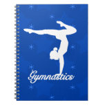 Gymnastics Girl Blue Stars Notebook