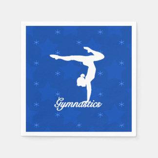 Gymnastics Girl Blue Stars Paper Napkin