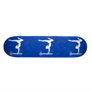 Gymnastics Girl Blue Stars Skateboard Deck