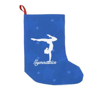 Gymnastics Girl Blue Stars Small Christmas Stocking