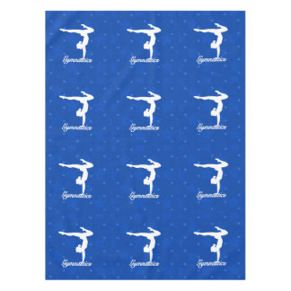 Gymnastics Girl Blue Stars Tablecloth