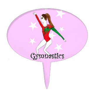 Gymnastics girl cake topper