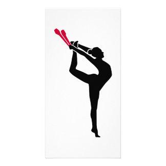 Gymnastics girl card