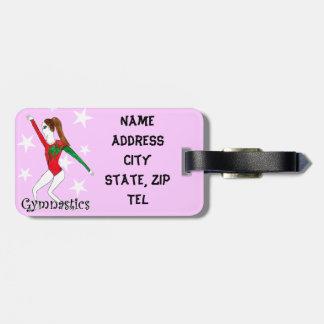 Gymnastics girl luggage tag
