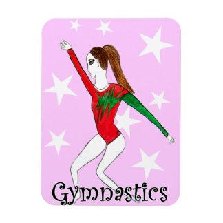 Gymnastics girl magnet