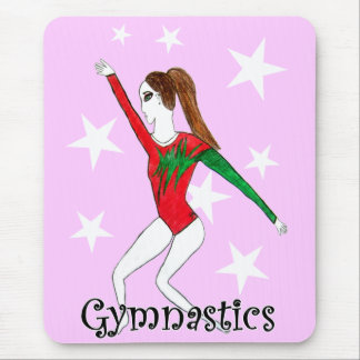 Gymnastics girl mouse pad