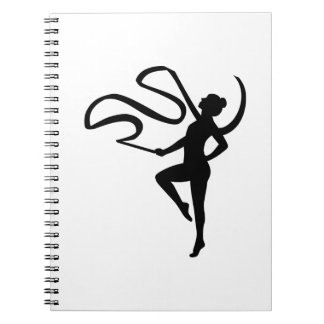 Gymnastics girl notebook