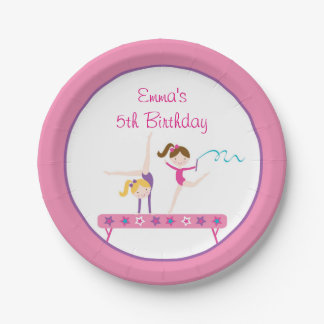 Gymnastics Girl Paper Plates 7 Inch Paper Plate