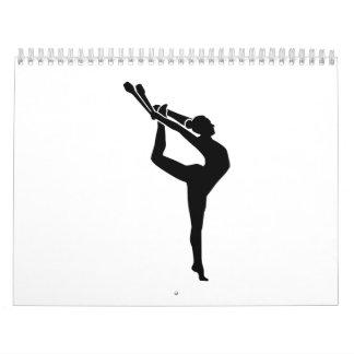 Gymnastics girl woman calendar