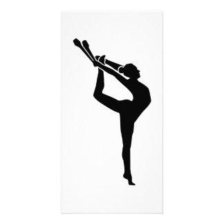 Gymnastics girl woman card