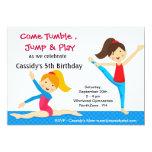 "Gymnastics Girls Birthday Party Invitation 5"" X 7"" Invitation Card"
