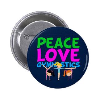 Gymnastics Girls Button