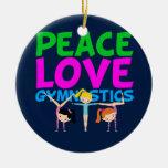 Gymnastics Girls Ceramic Ornament