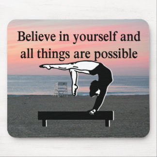 GYMNASTICS GOALS AND DREAMS MOUSE PAD