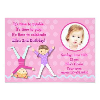 GYMNASTICS Gym Photo Birthday party invitations