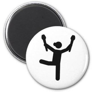 Gymnastics gymnast 2 inch round magnet