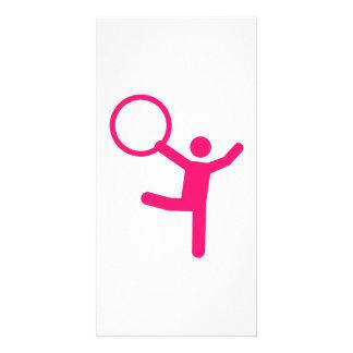 Gymnastics gymnast hoop card