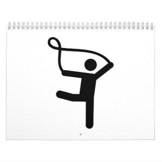 Gymnastics gymnast rope calendar