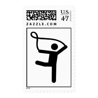 Gymnastics gymnast rope postage stamp
