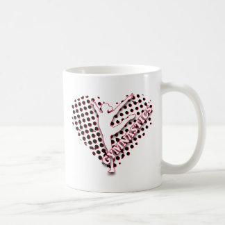 Gymnastics Halftone Heart Red blue Personalized Coffee Mug