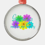 Gymnastics Happiness Flowers Christmas Ornaments