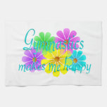 Gymnastics Happiness Flowers Towels