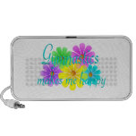 Gymnastics Happiness Flowers Travelling Speakers