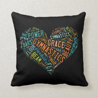 Gymnastics Heart Collage Pillow