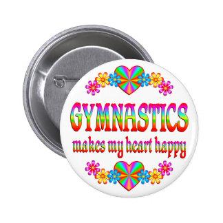 Gymnastics Heart Happy Pinback Button