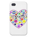 Gymnastics Heart with Flowers iPhone 4 Cases