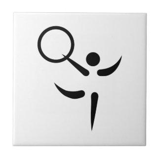 Gymnastics hoop ceramic tile