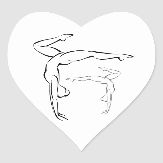 Gymnastics II Heart Sticker