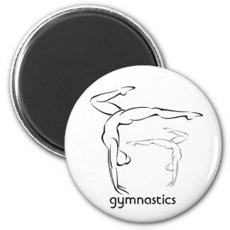 Gymnastics II 2 Inch Round Magnet