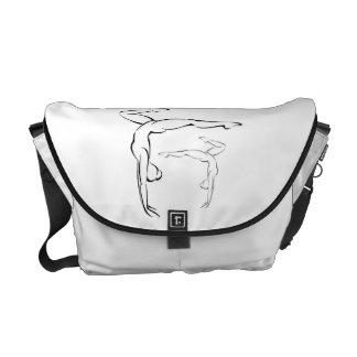 Gymnastics II Messenger Bags