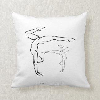 Gymnastics II Throw Pillows