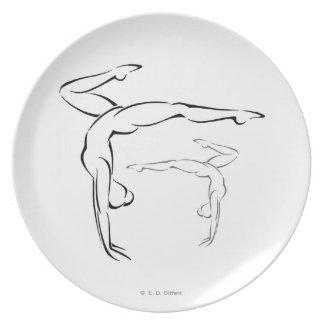 Gymnastics II Dinner Plate