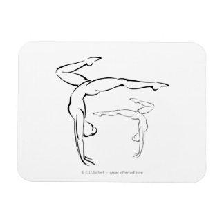 Gymnastics II Rectangular Photo Magnet