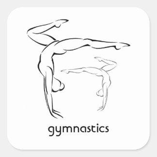 Gymnastics II Square Sticker