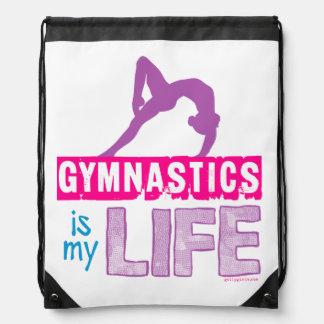 Gymnastics Is My Life Drawstring Bag