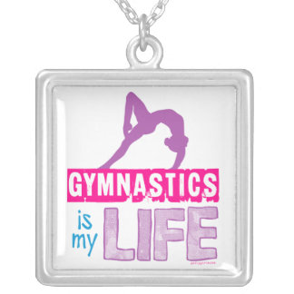 Gymnastics Is My Life Silver Plated Necklace